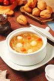Сладостный белого суп семян грибка и лотоса Стоковое Изображение RF