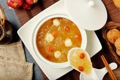 Сладостный белого суп семян грибка и лотоса Стоковое фото RF