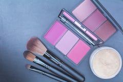 Сладостный взгляд, розовый комплект состава тона Стоковое Изображение