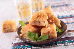 Сладостный десерт бахлавы Стоковое Фото