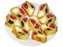 Сладостный десерт, в белой плите Стоковое Изображение