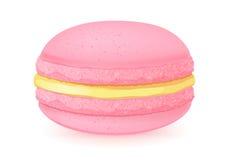 Сладостный десерт macaroon на белизне Стоковое фото RF