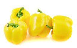 Сладостный желтый изолированный болгарский перец Стоковое фото RF