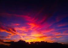 Сладостный заход солнца Стоковые Изображения RF