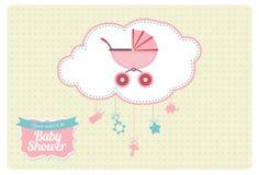 Сладостный дизайн карточки приглашения детского душа Стоковые Фото