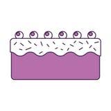 Сладостный и очень вкусный торт иллюстрация штока
