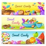 Сладостный комплект знамени конфеты Стоковое фото RF
