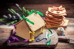 Сладостный коттедж пряника рождества Стоковые Изображения