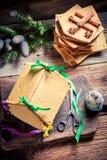 Сладостный коттедж пряника для рождества Стоковое Фото