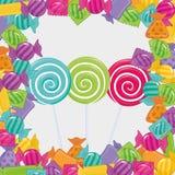 Сладостный магазин конфеты иллюстрация штока