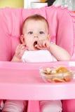 Сладостный младенец есть печенье Стоковое Изображение