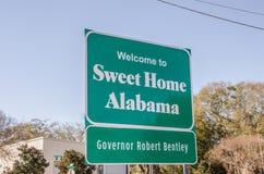 Сладостный домашний знак Алабамы Стоковые Изображения RF