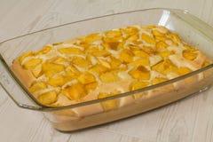 Сладостный пирог с персиком Стоковые Фото