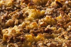 Сладостный пудинг домодельного хлеба Стоковое Фото