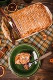 Сладостный пудинг хлеба Стоковые Фотографии RF