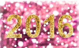 2016 сладостный романтичный свет - розовое bokeh предпосылки Стоковые Фотографии RF