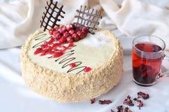 Сладостный торт на приятное утро Стоковая Фотография