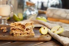 Сладостный торт слойки яблока Стоковая Фотография