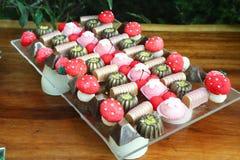 Сладостный цветок партии конфеты Стоковые Фотографии RF