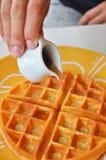 Сладостный waffle Стоковое фото RF
