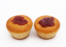 2 сладостных булочки стоковые фотографии rf