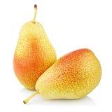 2 сладостных красных желтых плодоовощ груши Стоковая Фотография