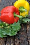 2 сладостных перца желтый цвет и красный цвет Стоковое Изображение