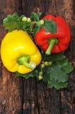 2 сладостных перца желтый цвет и красный цвет Стоковая Фотография