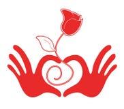 С большим воображением иллюстрация сердца Стоковые Изображения