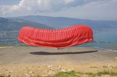 с взятия paragliding Стоковые Изображения RF