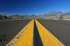 сдвоенная линия желтый цвет Стоковые Изображения RF