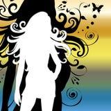с волосами длинняя женщина Иллюстрация вектора