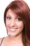 с волосами красная женщина стоковое фото rf
