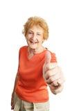 с волосами красное старшее thumbsup Стоковые Изображения