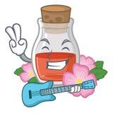 С гитарой подняло масло семени форма мультфильма иллюстрация вектора