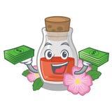 С деньгами сумка подняла масло семени форма мультфильма бесплатная иллюстрация