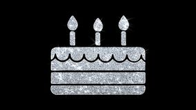 С днем рождений элемента моргать приветствия частиц значка, приглашение, предпосылка торжества