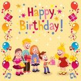 С днем рождения карточка Стоковое Изображение