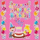 С днем рождения карточка Стоковое Изображение RF