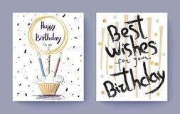 С днем рождения открытка поздравлению наилучших пожеланий бесплатная иллюстрация