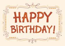 С днем рождения текст для поздравительных открыток Стоковое фото RF