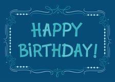 С днем рождения текст для поздравительных открыток Стоковые Фотографии RF