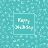 С днем рождения флористический дизайн поздравительной открытки Стоковая Фотография