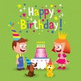 С днем рождения Стоковое Изображение RF
