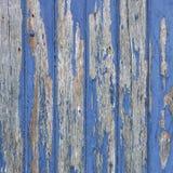 Слезать голубую краску на деревянных двери или загородке Стоковые Изображения
