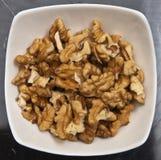Слезли грецкие орехи в шаре Стоковые Фото