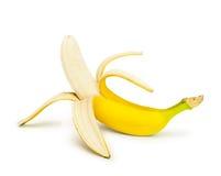 слезли половина банана, котор Стоковая Фотография RF