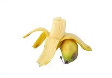 слезли половина банана, котор Стоковое Фото