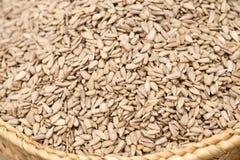 Слезли семена подсолнуха на рынке Стоковые Фотографии RF