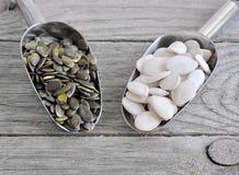 Слезли семена тыквы, который Стоковая Фотография RF
